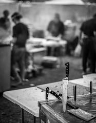 Chopped (davidjhumphries) Tags: black blackandwhite bbq gril food festival dublin herbert park ireland drink beer craft blavk white fire knife portraite 130816 0816 2016
