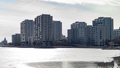 Merihaka (Jori Samonen) Tags: buildings trees waterfront ice water clouds uspenski cathedral merihaka helsinki finland