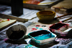 Colors Through the Ages (stamp711) Tags: stilllife art ceramic paint traditional shadowplay pigment tangshan
