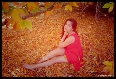 Autumn love (Sougata2013) Tags: autumn autumnleaves mountloftybotanicgarden adelaide southaustralia australia adelaidehills nature nikond7200 portrait expression lady woman colours