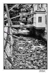 No trespassing (Artico7) Tags: blackandwhite bw italy water monochrome creek river flow blackwhite iron fuji steel arrow noentry biancoenero notrespassing friuli polcenigo xe1 wroughtsteel