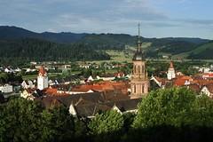 Gengenbach (sonofwalrus) Tags: canon eos7d slr gengenbach germany europe blackforest deutschland spire town buildings architecture landscape hills rooftops