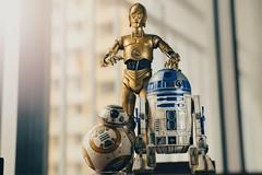 Revoltech C3PO, Bandai R2D2 & BB8 (Ei8t) Tags: revoltech bandai bb8 r2d2 c3po starwars theforceawakens naturallight gh4 lumix mumbai modelkit india 1235mm vsco vscoedit toyphotography toy toys