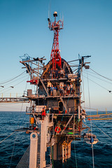 A science team aboard FLIP (Scripps_Oceanography) Tags: ocean science research flip floating platform ship oceanography pacificocean scripps