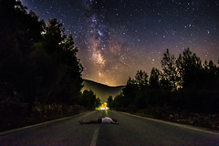 Sleep without dreams (Vagelis Pikoulas) Tags: star stars space universe galaxy milky milkyway way long exposure night nightscape landscape selfshot selfie canon 6d tokina 1628mm view street road porto germeno greece vilia 2016 july summer dream