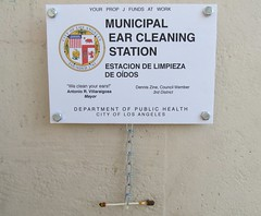 LA Dept. of Health Ear Cleaning Station (TedParsnips) Tags: losangeles sfv canogapark municipal denniszine qtip ear publichealth california southerncalifornia antoniovillaraigosa