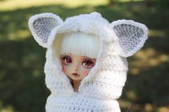 kotori-pet (babychan80) Tags: kotori bjd yosd peakswood tanskin whitefox crochet hat