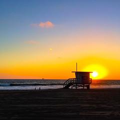 Lifeguard Station (Woodlands Photog) Tags: sunset pacific ocean manhattanbeach california lifeguard beach station water serene