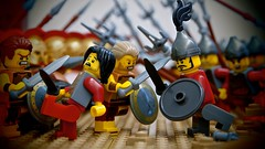 the Battle of Issus - 333 B.C. (Preview) (legophthalmos) Tags: lego alexander great greek greeks macedon hellenic persia persian darius granicus issus history war macedoniagreece macedonian makedonia timeless