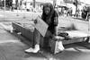 panhandler, Powell Street (vhines200) Tags: sanfrancisco 2016 homeless marketstreet sign panhandler