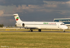 Bulgarian Air Charter MD-82 LZ-LDN (birrlad) Tags: prague prg international airport czech republic aircraft aviation airplane airplanes airline airliner airlines airways taxi taxiway takeoff departing departure runway sunlight sunset evening mcdonnell douglas md lzldn md82 bulgarian air charter