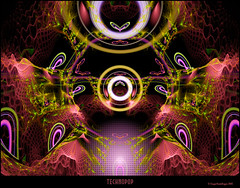 Techno Pop (CopperScaleDragon) Tags: abstract art mod colorful fractal jwildfire