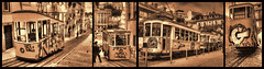 Lisbon Trams (Andy Gant) Tags: blackandwhite bw portugal sepia lisboa lisbon trams canoneos bwphotography bweffect canoneos550d