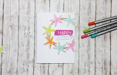 Fun Summer Card (diycraftyscraps) Tags: summer pencils cards starfish coloring papercrafts handmadecards papercrafting simonsaysstamp