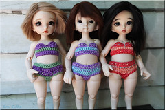 My Three Girls (ban sidhe) Tags: rlf realfee hybrid pkf pukifee ante zoe bonnie bjd doll fairyland