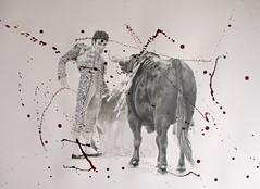 Arrogance or Respect (www.kevinmaxwellsfineart.com) Tags: bulls bullfighting josetomas graphite chinagraph blood anegitive blackandwhite toros torosymatadores matadores drawing spanish espana
