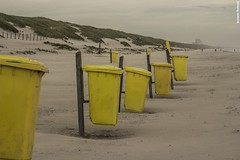 Waste Container (Amateur Photographer; Art Director; Passionate abo) Tags: beach noordwijk nl sand