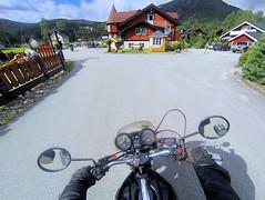 Leaving Slvgarden. (topzdk) Tags: norway mc motorcycle honda bmw summer 2016 motorcycleride rysstad brokke