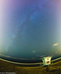 Milky Way at Torrey Pines Beach (Jun C Photography) Tags: ca em5 mft omd olympus beach longexposure m43 microfourthirds milkyway night sandiego statepark torreypines u43 fisheye rokinon