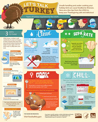Thanksgiving Food Safety (USDA Food Safety) Tags: infographic foursteps foodsafety fsis clean separate cook chill thermometer thanksgiving turkey ham gravy family