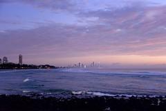 Surfers Paradise Dawn (armct) Tags: dawn sunrise saltspray mist morning surf nightlights goldcoast surfersparadise palmbeach