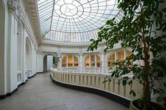 Wilhelm Landau bank (PiotrTrojanowski) Tags: warsaw architecture interior art nouveau secession balcony skylight poland