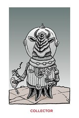 Collector (Don Moyer) Tags: monster ink notebook drawing alien creature moyer collector brushpen donmoyer