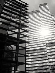 Euston Tower (Gary Kinsman) Tags: eustontower architecture modern modernist euston tower london urban modernism highrise bw blackwhite 2007 regentsplace tritonsquare nw1 office