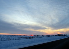 December 2012 (quirkyjazz) Tags: road winter sunset snow wisconsin rural outdoor country sundog