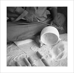2009-11-11   (Yuriy Sanin) Tags:    2009  egypt yuriy sanin mamiya6 7535 medium foma blackandwhite  figure  bowl  makes  rasp 6x6    instruments