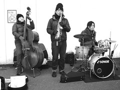 and all that jazz (peet-astn) Tags: tokyo japan jazz musicians drums bass sax sonor