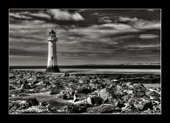 Perch Rock Lighthouse (ScreamingSkulls) Tags: niksoftware perchrocklighthouse mono newbrighton wirral mersey sthelenscameraclub ericmercer screamingskulls canonflickraward schnappschüsse2 dragongoldaward allbeautifulshotsandmanymore anythingyoulike landscape