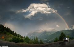 L'arc-en-ciel et le nuage (Quentin Douchet) Tags: alpes alpesfranaises alps frenchalps arcenciel ciel cloud landscape montagne mountain nuage paysage rainbow sky