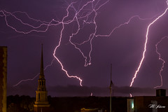 Multiple Strikes (19_Matt_79) Tags: lightning mother nature fury electricity electric light show thunderstorm purple