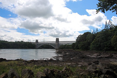 Coastal Walk To See The Lions Under Britannia Bridge (Bad Wolf Babe) Tags: britanniabridge angelsey wales snowdonia lindajenkins menaistrait