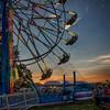 Summertime at the Leavenworth County Fair (d_russell) Tags: leavenworthcountyfair fair countyfair ferriswheel sunset sky canon5dmarkiii ef24105mmf4