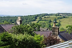 Over the rooftops (Blue sky and countryside.) Tags: rooftops winster village derbyshire peak district national park england countryside view green pleasant scenery pentax