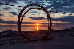 Circle the Sunset (Algorithms Riven - facebook.com/algorithmsriven) Tags: adriaticsea piran slovenia coil fence road sea sun sunset tube si