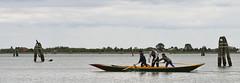 Learning How to Row (ramislevy) Tags: italy venetianlagoon burano venice boat rowing trade teacher forcola boys oar gondola gondolier