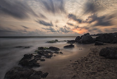 Sunrise of the winds (Sunrising Life) Tags: sunset winds sea rocks sand sky dramatic rocky sun sunrise water hd nd filter bigstopper 1000
