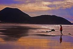 Tú, el mar y el cielo (javipaper) Tags: colors atardecer mar playa colores cantabria reflejos santoña cantábrico