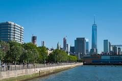 From Hudson River Park (Brad Clinesmith) Tags: park nyc newyorkcity skyline river manhattan worldtradecenter wtc hudson