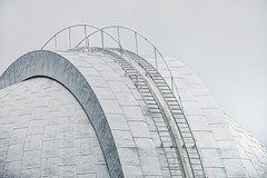 observatory close up (-liyen-) Tags: white architecture grey observatory telephoto ladder 55200mm activeassignmentweekly bestofweek1 bestofweek2 bestofweek3 bestofweek4 bestofweek5 bestofweek6 bestofweek7 challengefactorywinner thechallengefactory fujifilmxt1