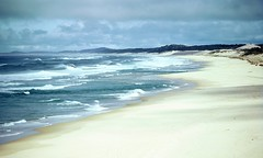 Ocean Beach, Myall Lakes National Park, NSW, 18th September, 1971. (garratt3) Tags: aus film myalllakesnationalpark northcoast pentax rural takumar lake ocean sea beach bushwalking wilderness australia kodachrome nsw sand newsouthwales
