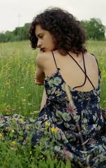 Francesca (elisabettaroncoroni) Tags: portrait film field 35mm canon 50mm back kodak analogic
