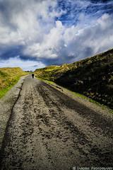 Walking Uphill (mjardeen) Tags: clouds golf landscape outdoor path walk sony 28mm hill fe steep a7ii 2 chambersbay a7m2 sonyfe28mm2