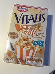 Dr Oetker Vitalis Knusper Pop Msli Karamell (Like_the_Grand_Canyon) Tags: popcorn msli