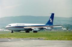 A710E 5B-DAL B707-123B Cyprus AW GLA 03061985 (fergusabraham) Tags: 5bdal b707 gla cyprusairways boeing707 glasgowinternational