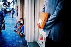 Man bag (Stephen Dowling) Tags: travel summer italy film 35mm xpro sanremo cosinacx2 agfact100precisa