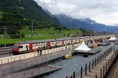 Gottardo-Shuttle in Ryncht (ice91prinzeugen) Tags: ic 2000 sbb erffnung ffs 2016 cff gottardo dosto pendelzug basistunnel publikumsanlass gotth ryncht